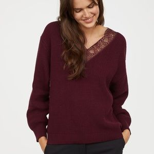 2 for $20🔥H&M lace trim sweater